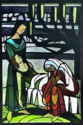 Glaskunst in der Kirche Süddorf